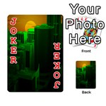 Green Building City Night Playing Cards 54 Designs  Front - Joker2