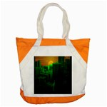 Green Building City Night Accent Tote Bag Front