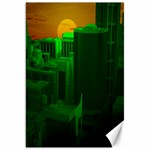Green Building City Night Canvas 20  x 30   30 x20 Canvas - 1