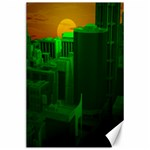 Green Building City Night Canvas 24  x 36  36 x24 Canvas - 1