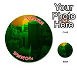 Green Building City Night Playing Cards 54 (Round)  Front - Joker2
