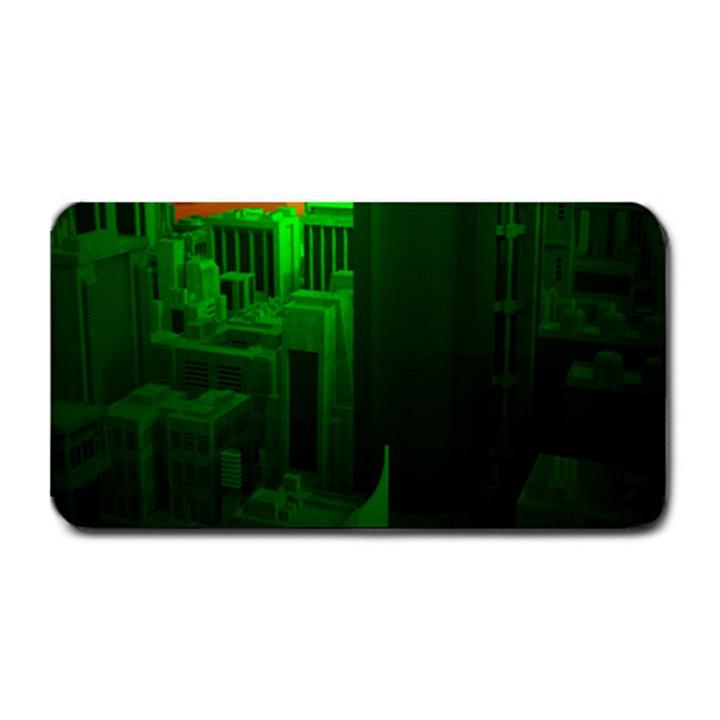 Green Building City Night Medium Bar Mats