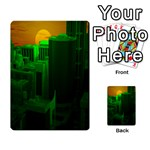 Green Building City Night Multi-purpose Cards (Rectangle)  Back 1