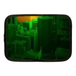 Green Building City Night Netbook Case (Medium)  Front