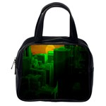 Green Building City Night Classic Handbags (2 Sides) Back