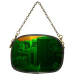 Green Building City Night Chain Purses (One Side)  Front