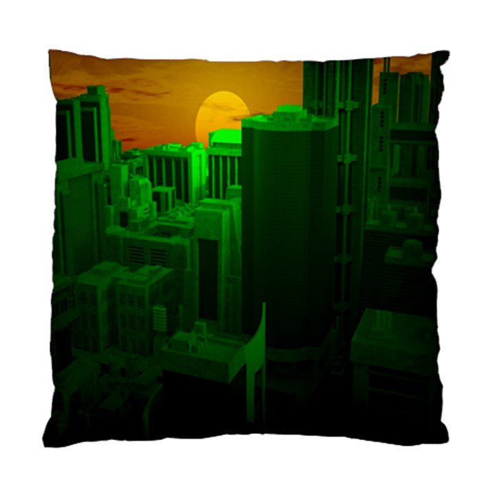Green Building City Night Standard Cushion Case (One Side)