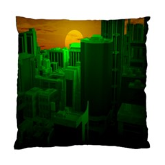 Green Building City Night Standard Cushion Case (Two Sides)