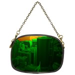 Green Building City Night Chain Purses (Two Sides)  Front