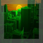 Green Building City Night Mini Canvas 8  x 8  8  x 8  x 0.875  Stretched Canvas