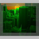 Green Building City Night Canvas 10  x 8  10  x 8  x 0.875  Stretched Canvas