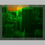Green Building City Night Canvas 16  x 12  16  x 12  x 0.875  Stretched Canvas