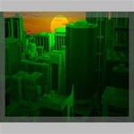 Green Building City Night Canvas 20  x 16  20  x 16  x 0.875  Stretched Canvas