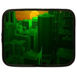 Green Building City Night Netbook Case (XL)  Front