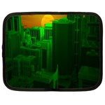 Green Building City Night Netbook Case (XXL)  Front