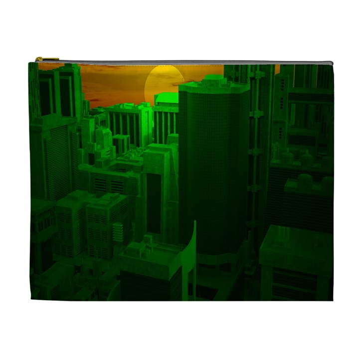 Green Building City Night Cosmetic Bag (XL)