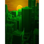 Green Building City Night Large Memo Pads 4.125 x5.5  Memopad