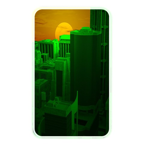Green Building City Night Memory Card Reader