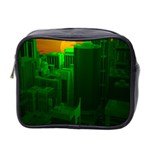 Green Building City Night Mini Toiletries Bag 2-Side Front