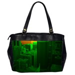 Green Building City Night Office Handbags (2 Sides)  Back