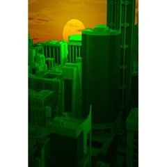 Green Building City Night 5.5  x 8.5  Notebooks