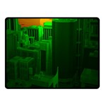Green Building City Night Fleece Blanket (Small) 50 x40 Blanket Front