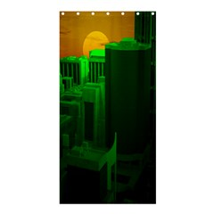 Green Building City Night Shower Curtain 36  x 72  (Stall)