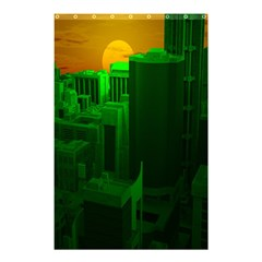 Green Building City Night Shower Curtain 48  x 72  (Small)