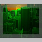 Green Building City Night Deluxe Canvas 16  x 12   16  x 12  x 1.5  Stretched Canvas