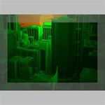 Green Building City Night Deluxe Canvas 18  x 12   18  x 12  x 1.5  Stretched Canvas