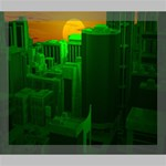 Green Building City Night Deluxe Canvas 24  x 20   24  x 20  x 1.5  Stretched Canvas