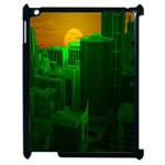 Green Building City Night Apple iPad 2 Case (Black) Front