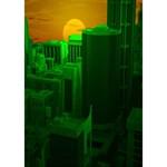 Green Building City Night Ribbon 3D Greeting Card (7x5) Inside