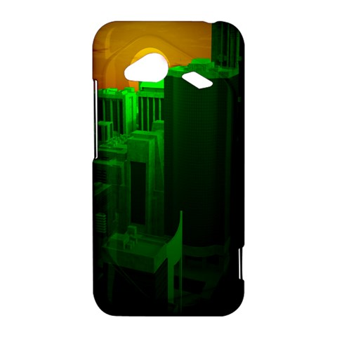 Green Building City Night HTC Droid Incredible 4G LTE Hardshell Case