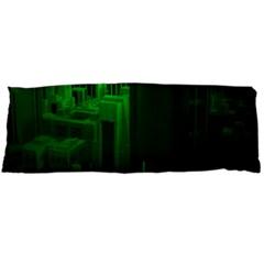 Green Building City Night Body Pillow Case (Dakimakura)
