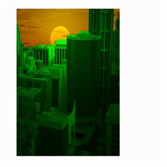 Green Building City Night Large Garden Flag (Two Sides)