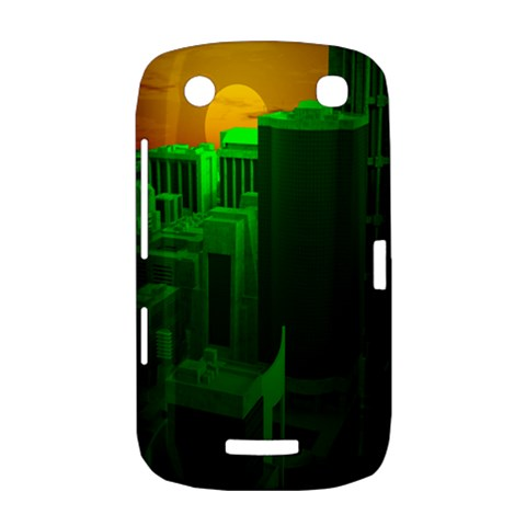 Green Building City Night BlackBerry Curve 9380