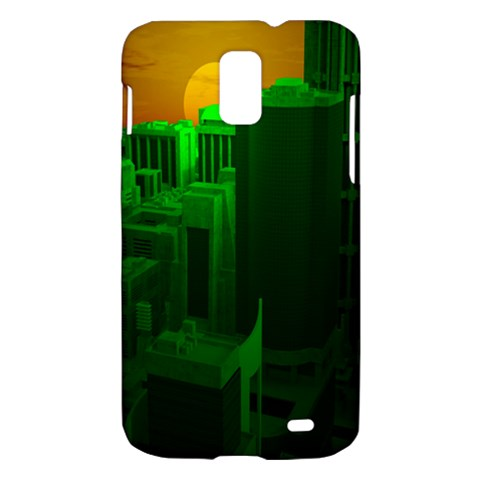 Green Building City Night Samsung Galaxy S II Skyrocket Hardshell Case
