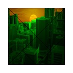 Green Building City Night Acrylic Tangram Puzzle (6  x 6 ) Front