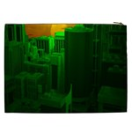 Green Building City Night Cosmetic Bag (XXL)  Back
