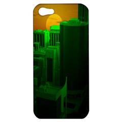 Green Building City Night Apple iPhone 5 Hardshell Case