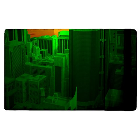 Green Building City Night Apple iPad 3/4 Flip Case