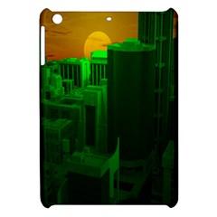 Green Building City Night Apple iPad Mini Hardshell Case