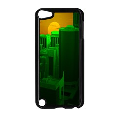 Green Building City Night Apple iPod Touch 5 Case (Black)
