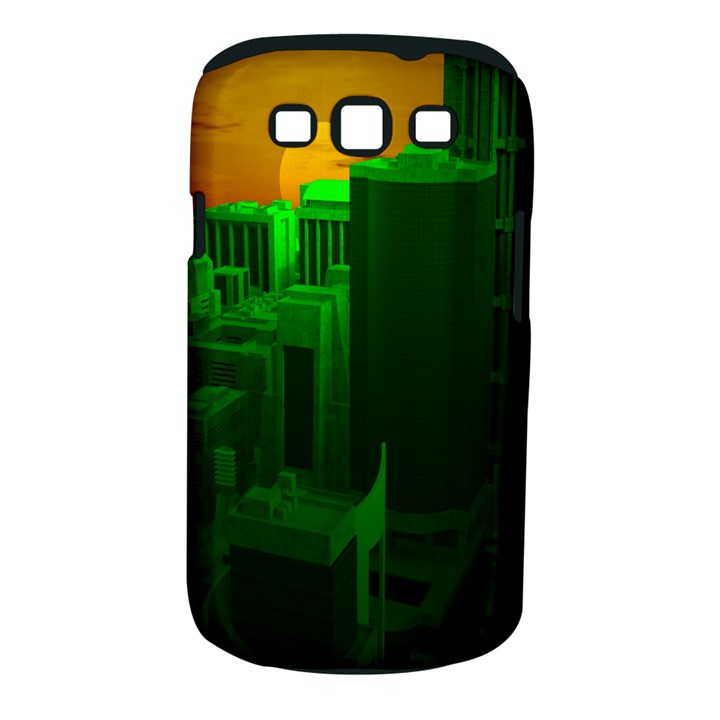 Green Building City Night Samsung Galaxy S III Classic Hardshell Case (PC+Silicone)