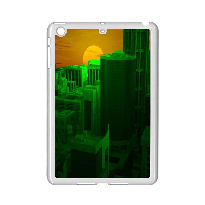 Green Building City Night iPad Mini 2 Enamel Coated Cases