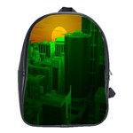 Green Building City Night School Bags (XL)  Front