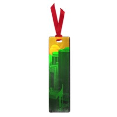 Green Building City Night Small Book Marks