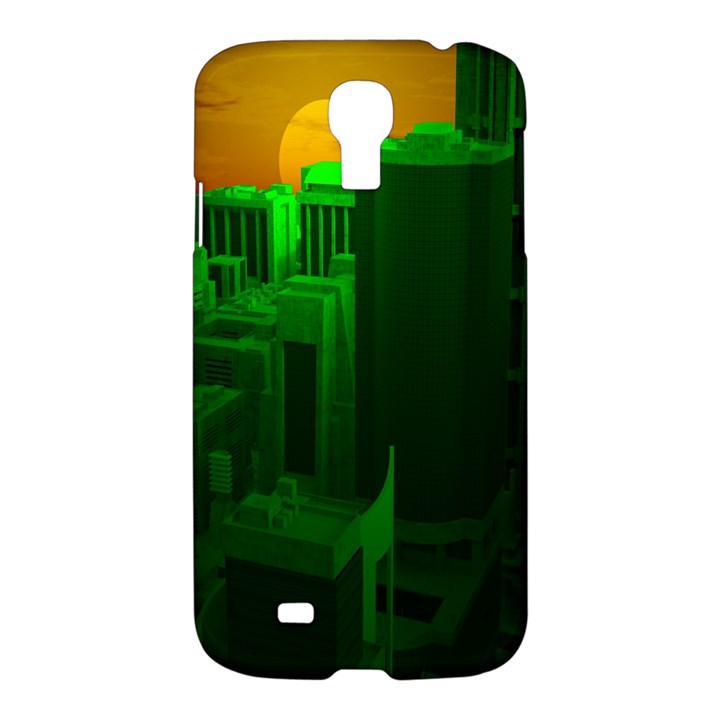 Green Building City Night Samsung Galaxy S4 I9500/I9505 Hardshell Case