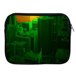 Green Building City Night Apple iPad 2/3/4 Zipper Cases Front